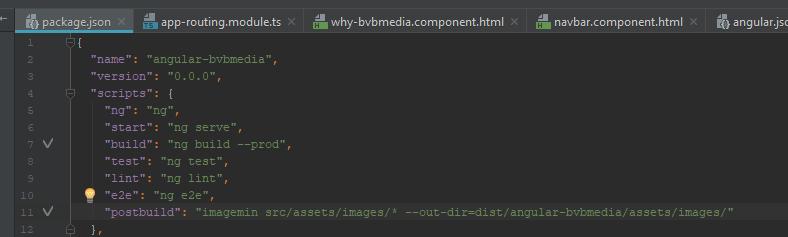 Compress images in build version - Bas van Beek